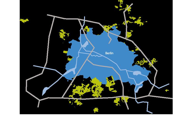 Flächen der Stadtgüter rund um Berlin